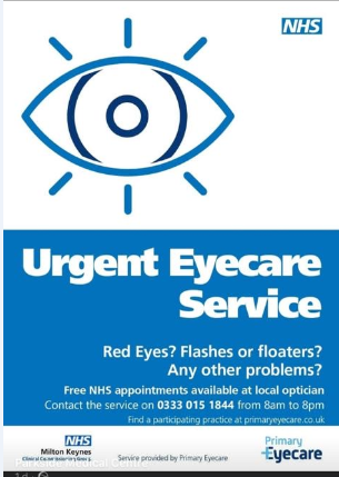 urent eye care services during covid